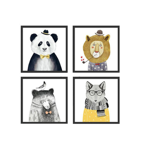 Animals Art Prints Poster For Kids Room