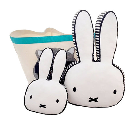 Rabbit Face Cushion Pillow For Kids Room