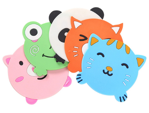 1 Piece Cartoon Animal Shape Silicone Colorful Place-mats