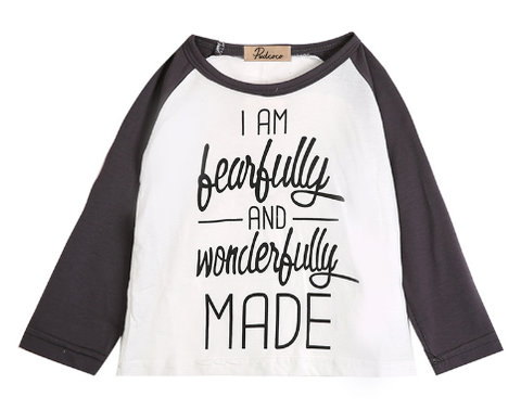 """I am fearfully and wonderfully made"" Long Sleeves Girl's Top"
