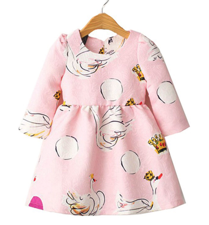 Cute Printed Winter Dress For Girls