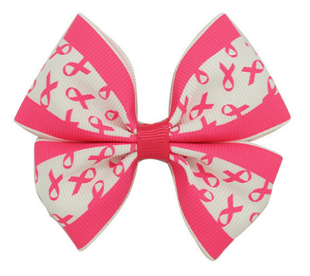 Pink & White Mixed Bow Clip For Girl's Hair Accessory