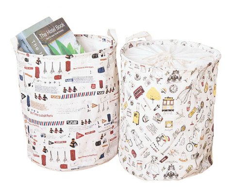 Foldable Home Storage Bin And Laundry Basket