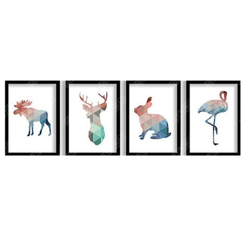 Animal Red-crowned Posters decorative wall