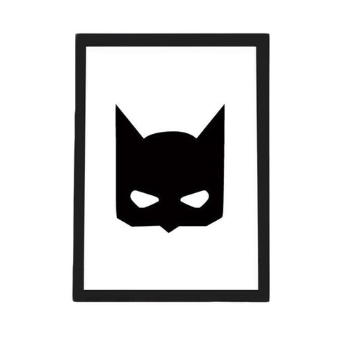Batman Mask Canvas Art Print Poster