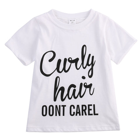 """Curly hair"" Letter Printed Casual T-shirt"