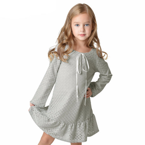 Girl Dress Lace Long Sleeve