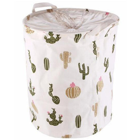 Stylish Cactus Pattern Canvas Storage Box