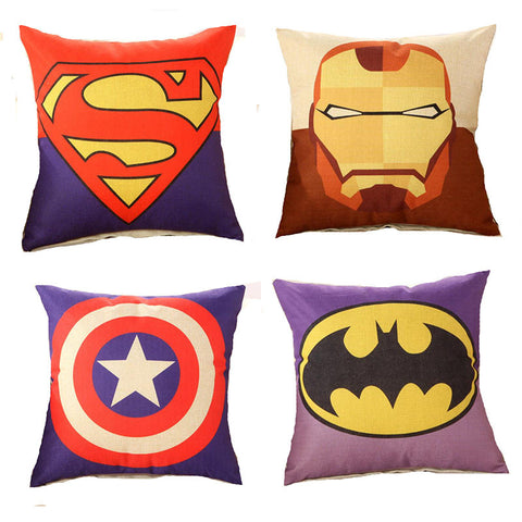 Super Hero Cotton Cushions For Kids Room