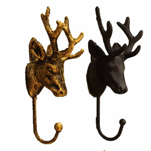 Iron Deer Shaped Wall Hooks