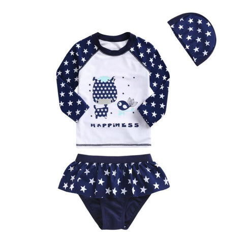 """Happiness"" Star Printed Swimming Suit/Bathing Suit"