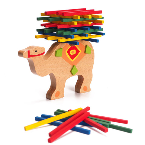 Camel Colorful Balancing Beam Wooden Toys