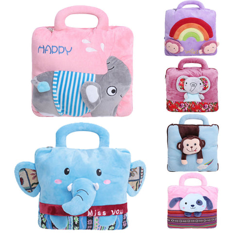Flannel Cartoon Air Conditioning Blanket  Dual-use Baby Soft Pillow