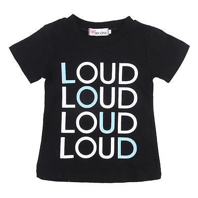 """LOUD"" Letter Printed Summer Kids T-Shirts"