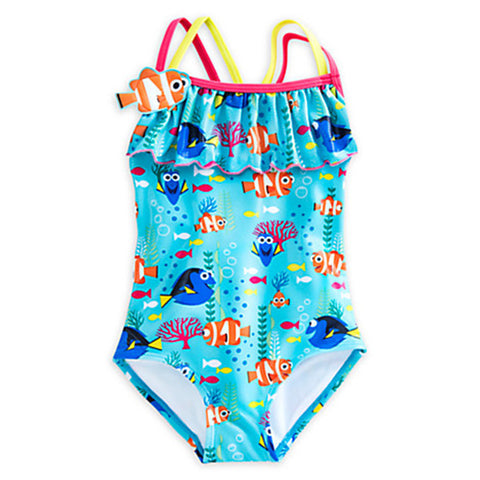 """Finding Nemo"" Cute Girls Swimwear, One-piece Swimsuit"