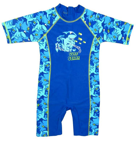 Shark Printed Bathing Suit/Swimwear For Baby Boys