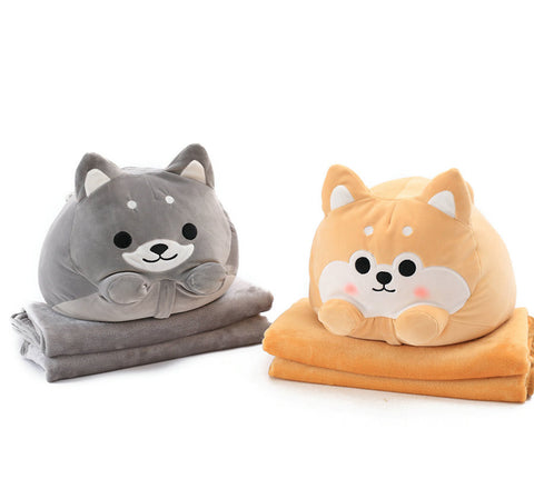 Animal Shape Cute Stuffed Pillow/Cushion With Blankets