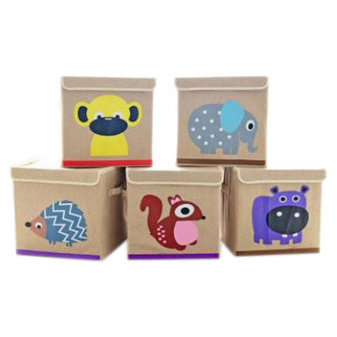 Folding Cartoon Storage Toys/Clothes Bucket