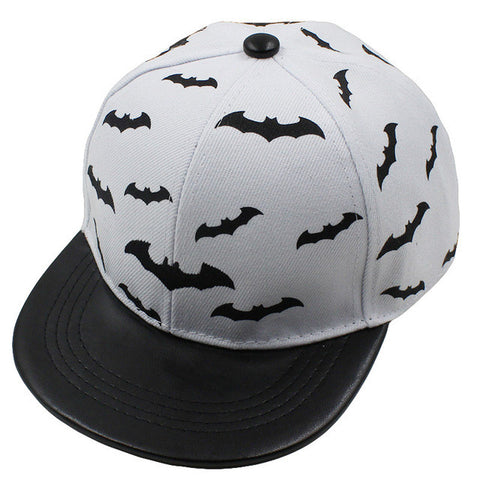 Bats Printed Snap-back Caps For Boys