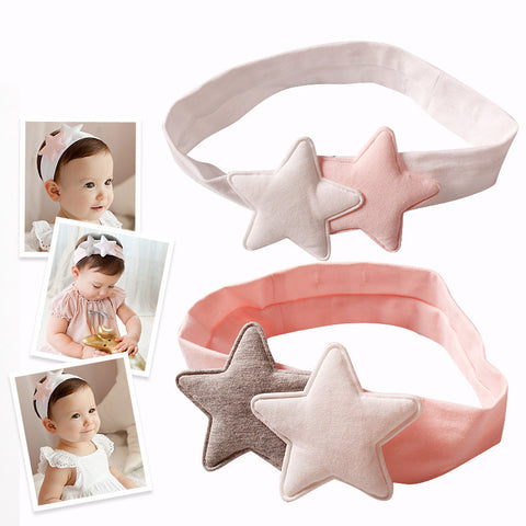 New Design Infant Two Star Elastic Hair Bands