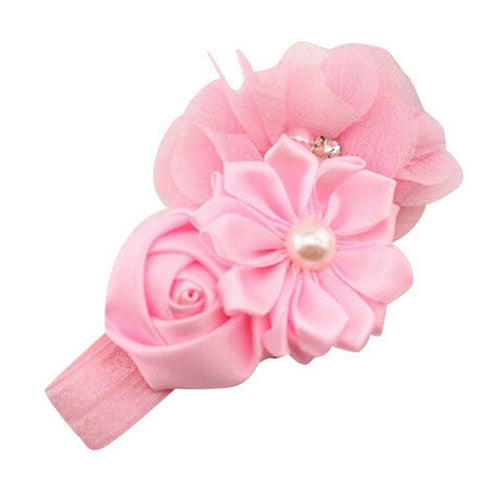 Fashionable Pearl Flower Elastic Hair Band Accessory