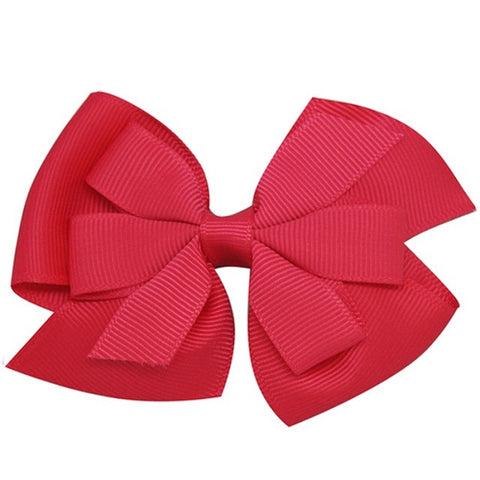 Lovely Colors Striped Grosgrain Ribbon Bows Hair-pins