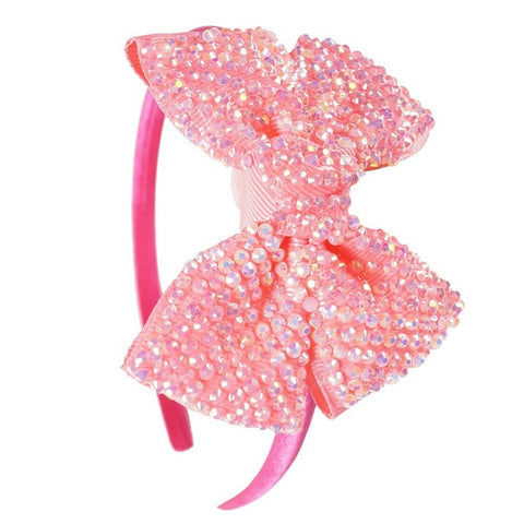 Pretty Rhinestones Boutique Hair Bands For Baby Girl