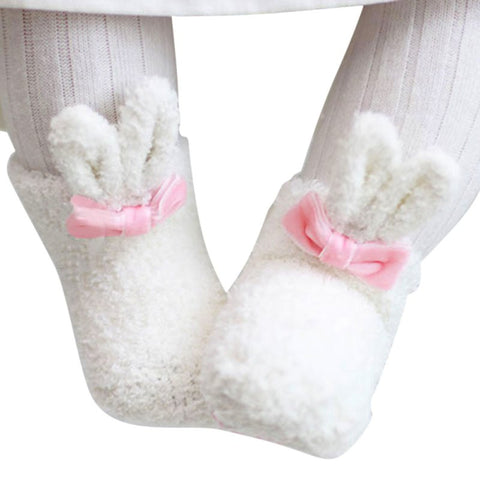 Cute Ear Bow-knot Soft Ankle Socks For Baby Girl's