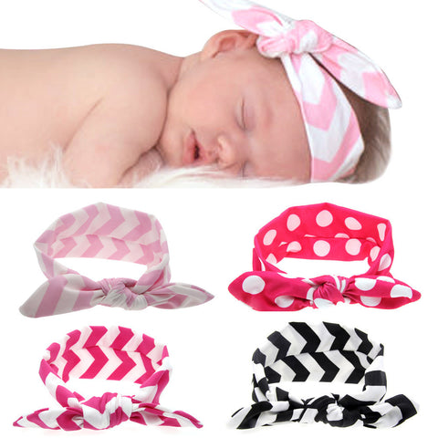 1 Piece Baby Girl Wavy & Dotted Knot Fashion Headband