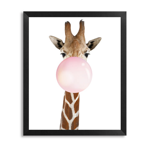 Giraffe Blowing Bubble Artwork Canvas Painting