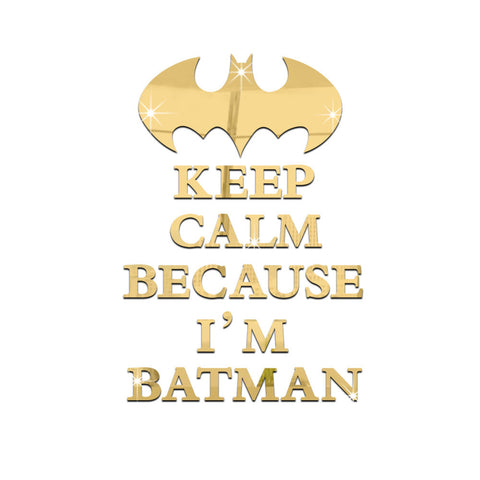 """Keep Calm Because I'm Batman"" Wall Sticker For Kids Room"