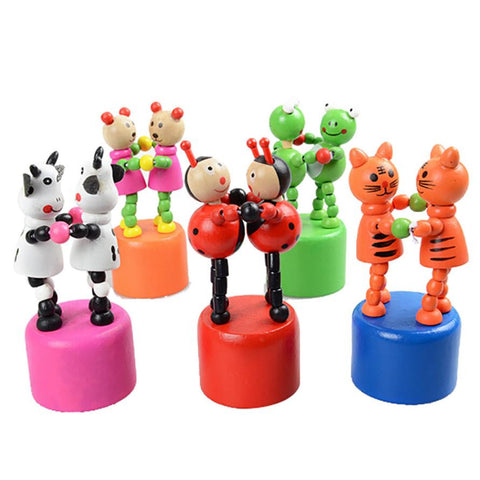 Animal Dancing Stand Colorful Wooden Toys