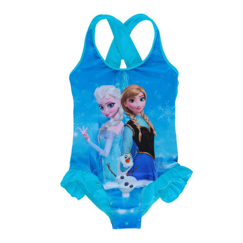 One Piece Bikini Cartoon Pattern Bathing Suits Swimwear