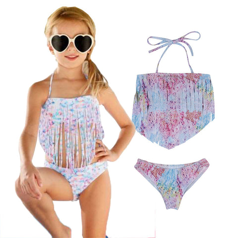Summer Two-Piece Halter Swimsuit Set