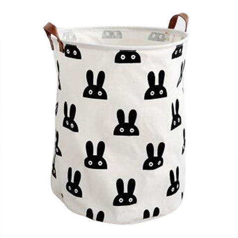 Small Rabbit Print Laundry Basket
