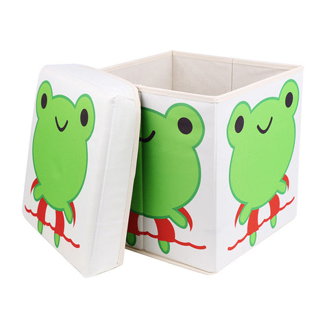 Creative Printed Stool And Folding Storage Box