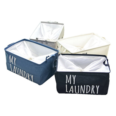 """MY LAUNDRY"" Printed Cotton Basket For Kids"