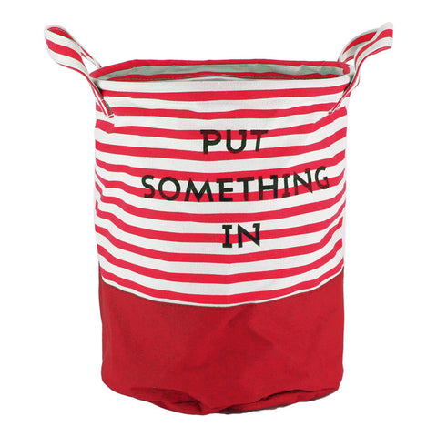 """Put Something In"" Stripe Clothes Storage Baskets"