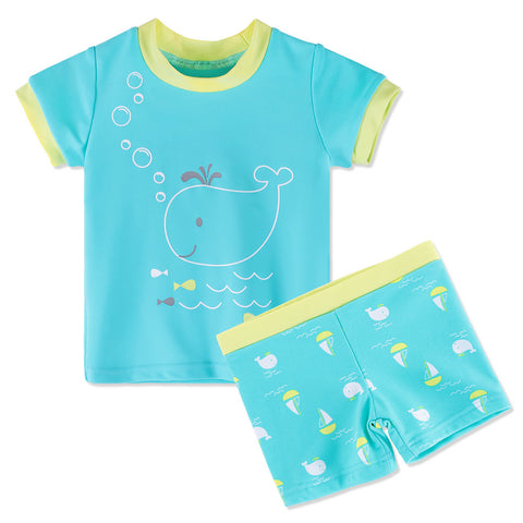 Fish Printed Baby Boys Swimming Suit