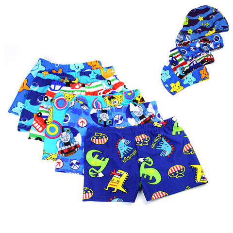 Summer Swimming Shorts And Cap For Baby Boys