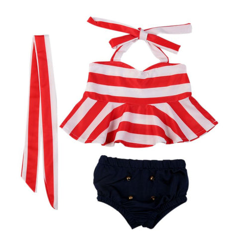 Bow-knot Halter Neck Cute Bikini Set/Beachwear