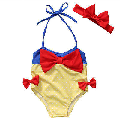 Cute Bow Halter Neck High Waist Swimwear/Beachwear