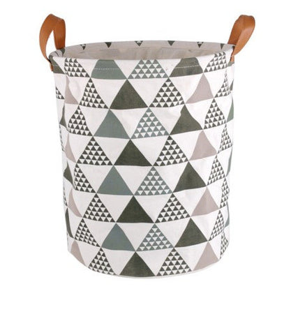 Classical Pattern Strong Canvas Fabric Laundry Basket