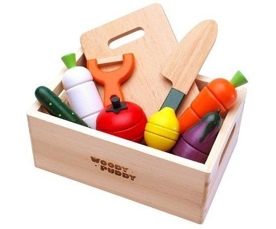 Wooden Play Food & Kitchen Box Set
