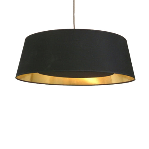 Black Shade With Gold Lining & Diffuser Pendant