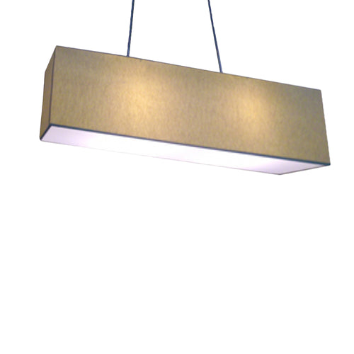 Large Rectangular Parchment Coloured Shade Pendant