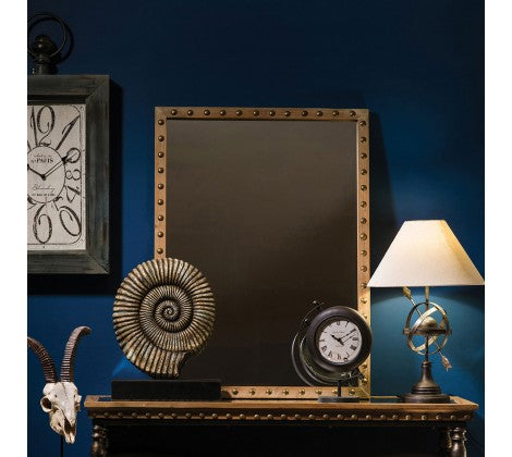 Studded Metal Mirror
