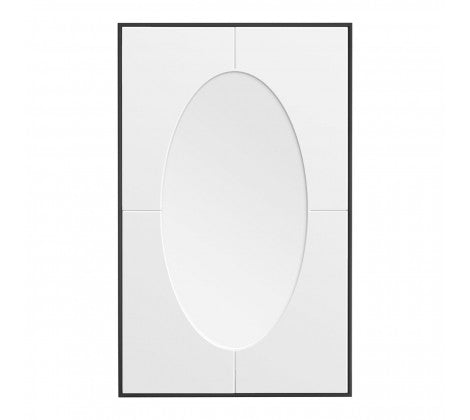 Rectangular Mirror/Oval Inset