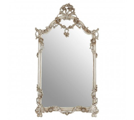 5c0843c51a47 Ornate Silver Rectangular Mirror – Decorexi