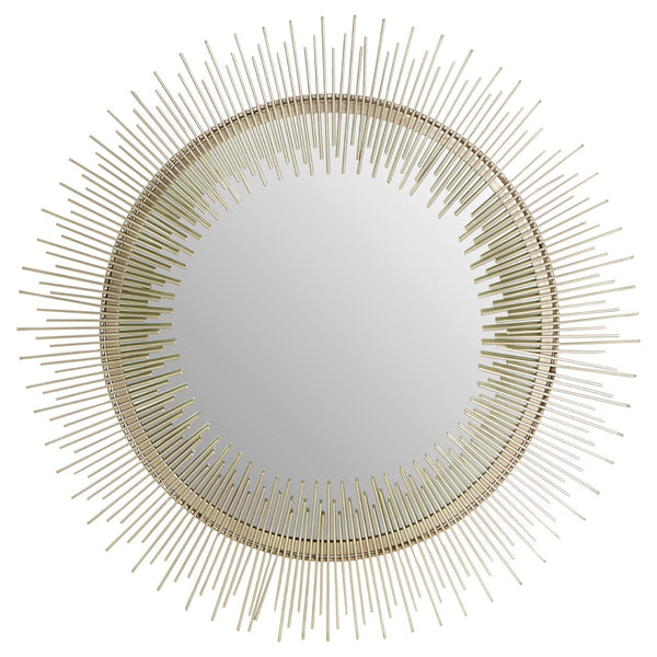 Iron & Pewter Round Wall Mirror